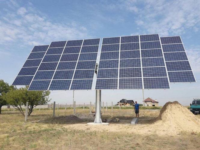 В Миколаїві збудовано СЕС з використанням сонячного трекеру на 46 ФЕМ.