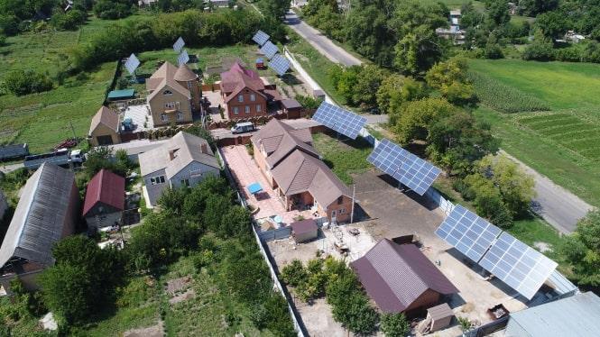 Three solar power plants have been built using solar trackers in Kirovograd region